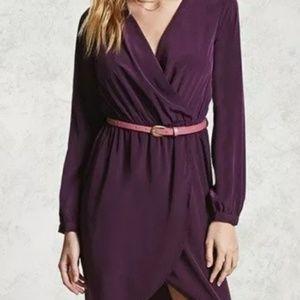 Forever 21 Surplice Long Sleeve Dress